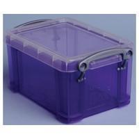 Reallyusefulboxes Really Useful Box 0,7 liter, transparant paars