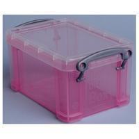 Reallyusefulboxes Really Useful Box 0,7 liter, transparant roze