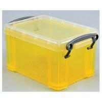 Reallyusefulboxes Really Useful Box 0,7 liter, transparant geel