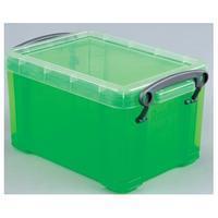 Reallyusefulboxes transparante opbergdoos 0,7 l Groen