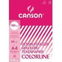Canson gekleurd tekenpapier Colorline ft 21 x 29,7 cm (A4)