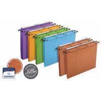Elba L'Oblique hangmappen voor laden AZO tussenafstand 390 mm (foolscape), bodem 30 mm, oranje