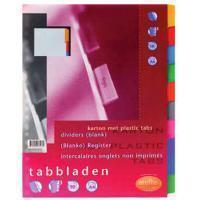 Multo Tabbladen  A4 23-gaats 10-delig wit karton 220gr