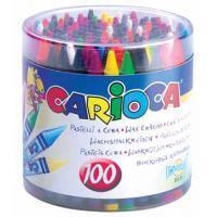 Carioca waskrijt Wax, pot met 100 stuks in geassorteerde kleuren