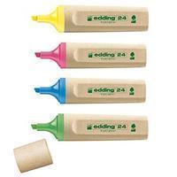 Edding Tekstmarker 24 EcoLine 2 - 5 mm. geel (pak 10 stuks)