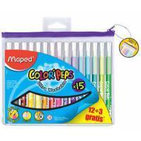 Maped viltstift Color'Peps 12 + 3 stiften