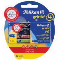 Pelikan Inktpatroon  Griffix blauw op blister