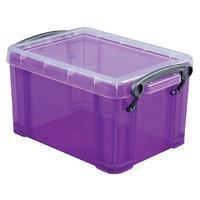 Reallyusefulboxes Really Useful Box 1,6 liter, transparant paars