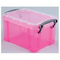 Reallyusefulboxes Really Useful Box 1,6 liter, transparant roze