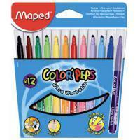 Maped Viltstift Color'Peps 12 stiften in een kartonnen etui