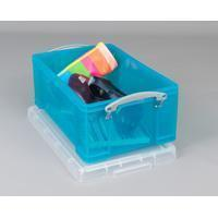 Reallyusefulboxes Really Useful Box 9 liter, transparant helblauw