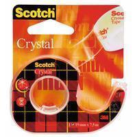 3M Plakband Crystal ft 19 mm x 7,5 m, blister met 1 afroller met 1 rolletje