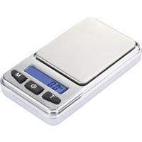 SJS-60008 Zakweegschaal Basetech Weegbereik (max.) 200 g Resolutie 0.01 g Werkt op batterijen Zilver