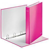 Leitz Ringband  WOW A4 4-rings D-mech 25mm karton roze