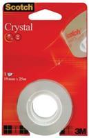 Scotch Plakband Crystal ft 19 mm x 25 m, blister met 1 rolletje
