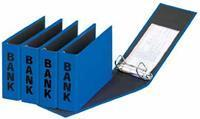 Pagna ringmap (PCR) ft 14 x 25 cm, blauw, glans uitvoering met zwarte belettering