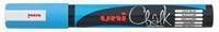 Uni-ball krijtmarker, ronde punt van 1,8 tot 2,5 mm, lichtblauw