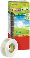 TESA film eco & clear ecoLogo, ft 19 mm x 33 m, toren van 8 rolletjes 57074-00000-01
