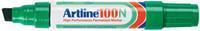 Viltstift  100 schuin groen 7.5-12mm