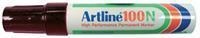 Artline Viltstift  100 schuin zwart 7.5-12mm