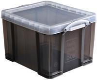 Really Useful Box 35 liter, transparant gerookt