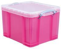 Really Useful Box 35 liter, transparant, helroze