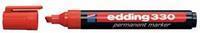 Edding Permanent marker 330 1 - 5 mm. rood (pak 10 stuks)