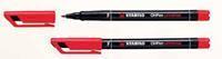 Stabilo Viltstift  OHP 842/40 rond rood 0.7mm