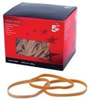 5 Star elastieken 6 mm x 100 mm, doos van 500 g