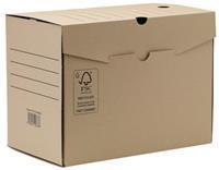 Transfer archiefdoos, ft A4, rug van 20 cm, bruin