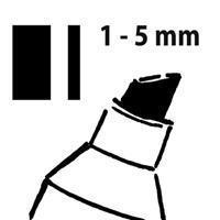 Sigel Krijtmarker  whiteboard fluor zwart 1-5mm