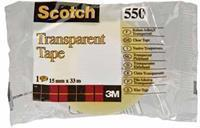 Scotch Plakband  550 15mmx33m transparant