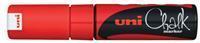 Uni-ball Krijtmarker rood, beitelvormige punt van 8 mm