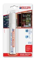 Edding Viltstift  4090 window schuin wit 4-15mm op blister