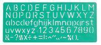 Lettersjabloon  10mm hoofdletters/letters/cijfers