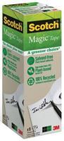 Scotch Plakband Magic ''A greener choice'' Torenverpakking van 9 rollen. 19 mm x 33 m (pak 9 rollen)