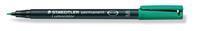 STAEDTLER  OHP/CD/DVD marker permanent Lc313. super fijn. groen (pak 10 stuks)