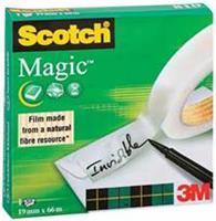 Scotch Plakband 810 Magic 19 mm x 66 m. asgat 76 mm (rol 66 meter)