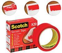Scotch Verzegeltape 820 35 mm x 33 m. rood (rol 33 meter)