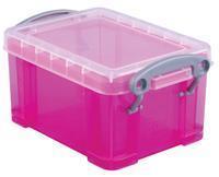 Really Useful Box visitekaarthouder 0,3 liter, transparant helroze