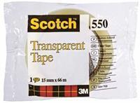 Scotch Plakband  550 15mmx66m transparant
