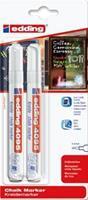 Krijtstift  4095 rond wit 2-3mm blister 2stuks
