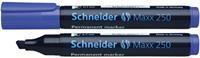 Schneider Marker perm. 250 beitel blauw 10st