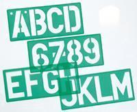 Lettersjabloon  50mm hoofdletters/letters/cijfers