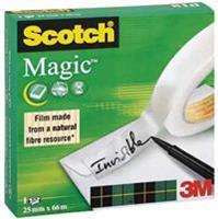 Scotch Onzichtbaar plakband  Magic 810 25mmx66m