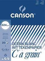 """Canson tekenblok """"C"""" à grain 224 g/m², ft 27 x 36 cm"""