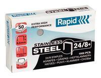 Rapid Nieten office standaard 24/8 roestvrij staal (pak 1000 stuks)