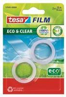 Tesa plakband Eco & Clear ft 19 mm x 10 m, blister met 2 rolletjes
