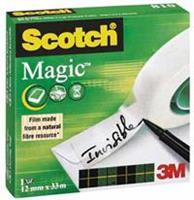 Scotch Plakband 810 Magic 12 mm x 33 m. asgat 25 mm (rol 33 meter)