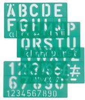 Lettersjabloon  30mm hoofdletters/letters/cijfers